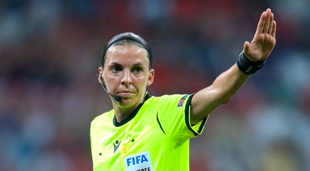 Stephanie Frappart took charge of the European Super Cup (Adam Davy/PA)