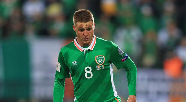 James McCarthy has been included in the provisional Republic of Ireland squad for next month's clashes with Switzerland and Bulgaria (Adam Davy/PA)