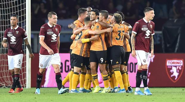 Wolves earned a 3-2 first-leg advantage in Italy (Alessandro Di Marco/AP)