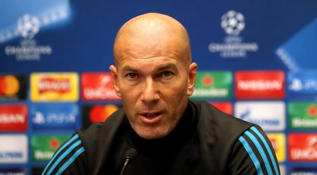 Zinedine Zidane believed Real Madrid deserved more as they dropped points at home to Real Valladolid (Adam Davy/PA)