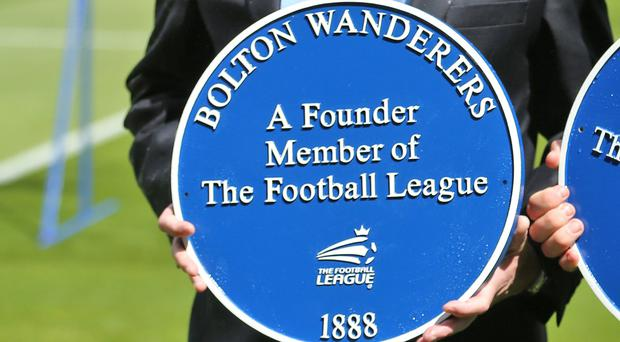 Bolton marking the 125th anniversary of the Football League (Dave Thompson/PA)