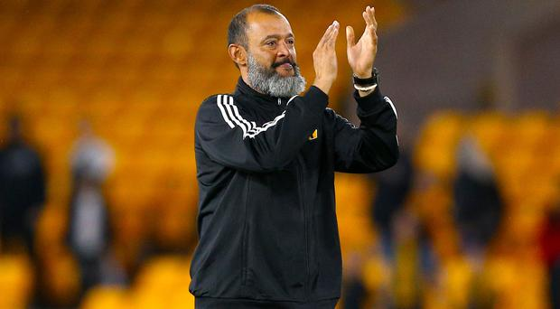 Wolves manager Nuno Espirito Santo is on the brink of taking them to the Europa League group stage. (Nigel French/PA)