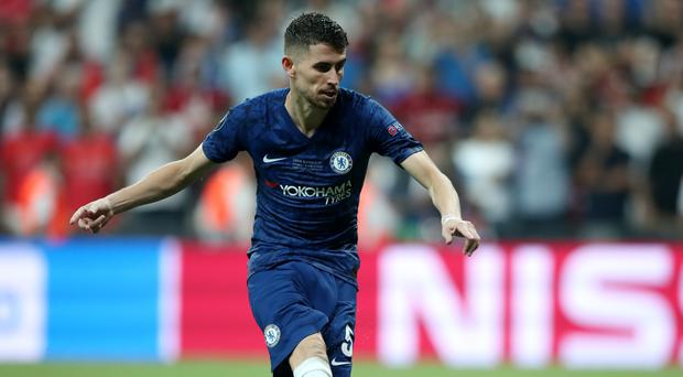 Chelsea's Jorginho scores in the penalty shoot out during the UEFA Super Cup Final at Besiktas Park, Istanbul.