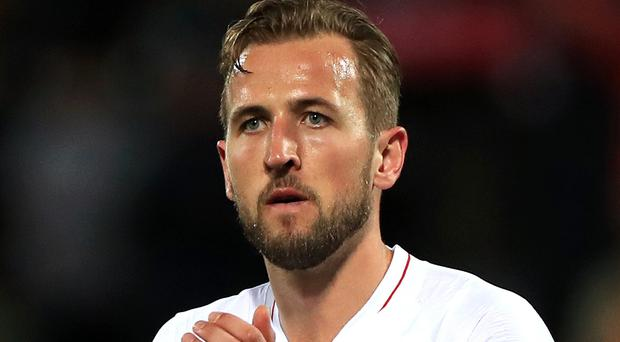 England's Harry Kane applauds the fans after the Nations League Semi Final at Estadio D. Alfonso Henriques, Guimaraes.