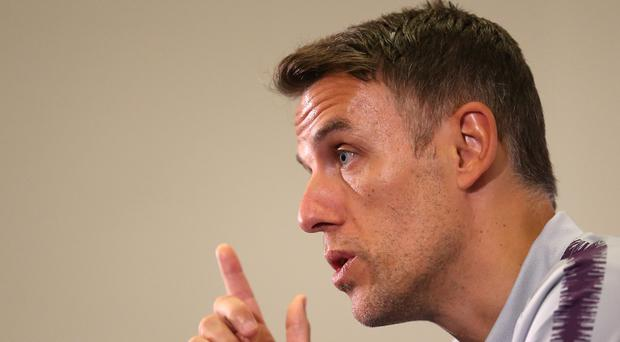 England women's head coach Phil Neville during the England women's squad announcement at St George's Park, Burton.