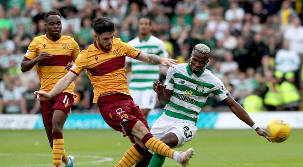 Liam Donnelly, left, has enjoyed a fine start to the season with Motherwell (Jane Barlow/PA)