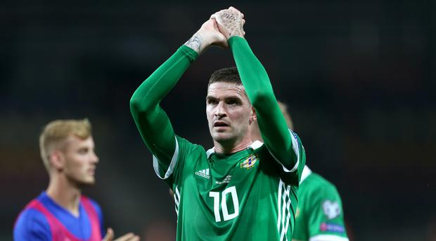 Kyle Lafferty has been added to Michael O'Neill's Northern Ireland squad (Steven Paston/PA)