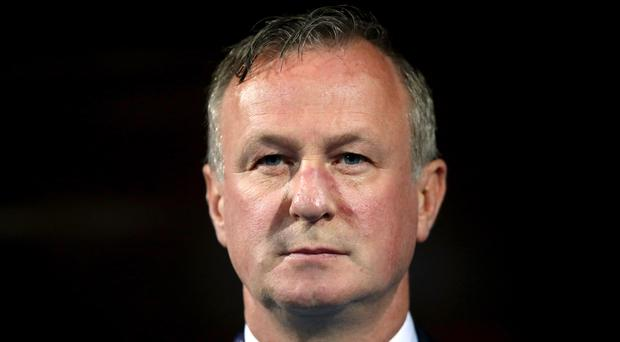 Michael O'Neill's Northern Ireland side face Luxembourg on Thursday (Tim Goode/PA)