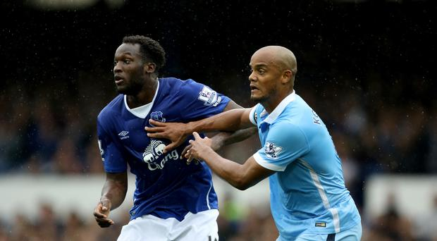Vincent Kompany (right) has condemned the racial abuse suffered by Romelu Lukaku (left) at the weekend (Richard Sellers/PA)
