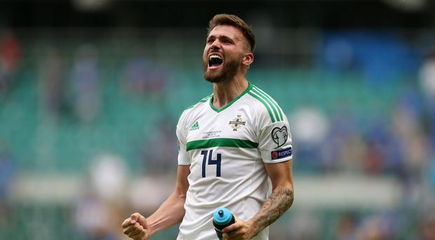 Stuart Dallas believes Northern Ireland must maintain their winning form before facing Germany (Steven Paston/PA)