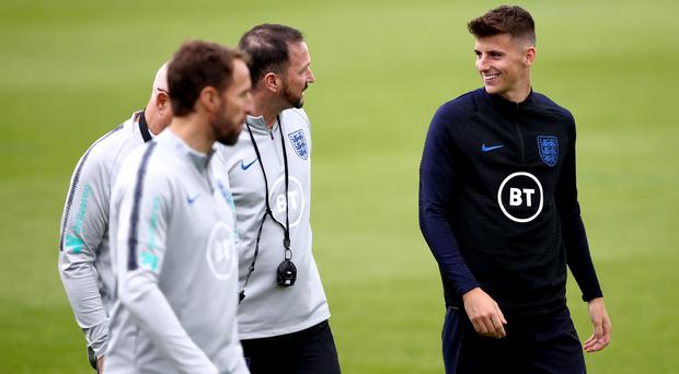 Chelsea midfielder Mason Mount (right) is hoping to earn a first senior England cap on the back of an impressive start to the new Premier League season.