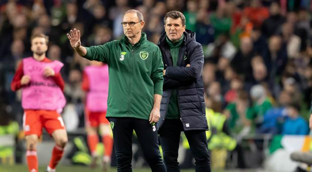 Difficult job: Martin O'Neill and Roy Keane during their stint as manager and assistant manager of the Republic of Ireland