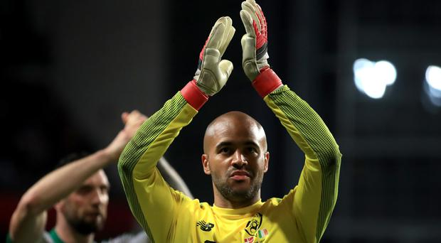 Republic of Ireland keeper Darren Randolph has been beaten only twice during the Group D campaign to date (Bradley Collyer/PA)