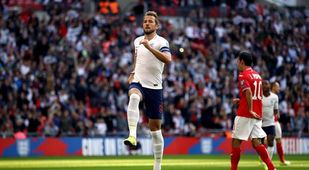 Harry Kane scored a hat-trick for England (Tim Goode/PA)
