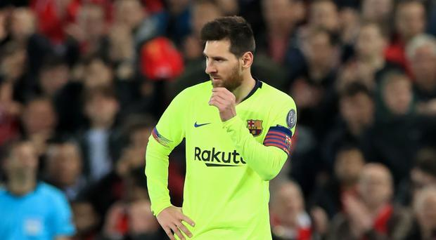 Barcelona star Lionel Messi is out of contract in 2021 (Peter Byrne/PA)
