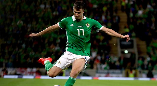 Paddy McNair says Northern Ireland remain in a strong position in Euro 2020 qualifying (Liam McBurney/PA)