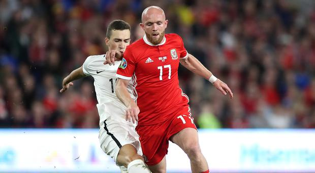 Jonny Williams (right) made his first Wales start in over three years in the friendly win over Belarus (Nick Potts/PA)