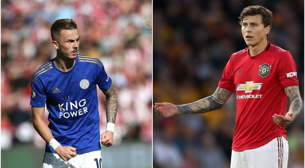 Could James Maddison, left, and Victor Lindelof become Old Trafford team-mates? (Richard Sellers/Nick Potts/PA)