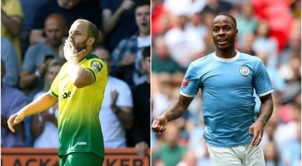 Teemu Pukki and Raheem Sterling will face off this weekend (PA)