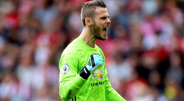 David de Gea has agreed a new contract with Manchester United (Mark Kerton/PA)