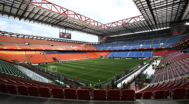 The San Siro will stage this season's first Milan derby on Saturday night (Nick Potts/PA)