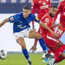 Amine Harit, left, scored one goal and set up another against Mainz (David Inderlied/AP).