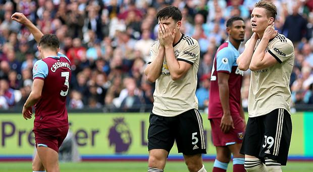 Manchester United's performance in the defeat at West Ham drew criticism from former player Roy Keane (Nigel French/PA)
