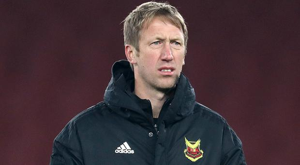 Ian Burchnall replaced Graham Potter, pictured, as Ostersunds manager in 2018 (Adam Davy/PA)