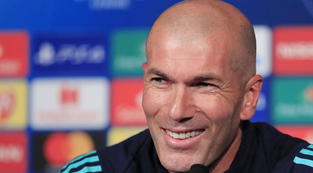 Zinedine Zidane wants his side to build on their 1-0 win over Sevilla at the weekend for their match against Osasuna (Michel Euler/AP)