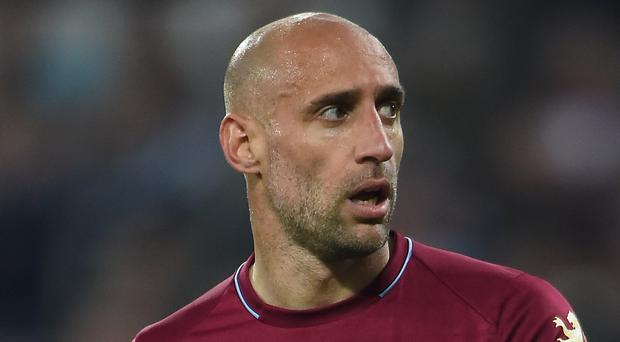 Pablo Zabaleta apologised to West Ham fans after the 4-0 defeat at Oxford (Daniel Hambury/PA).