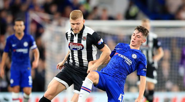 Billy Gilmour, right, impressed on his full Chelsea debut (Simon Cooper/PA)
