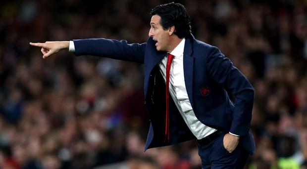 Unai Emery is looking forward to continuing Arsenal's rivalry with Manchester United (Steven Paston/PA)