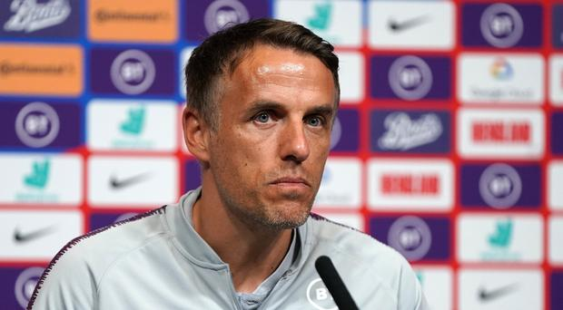 Phil Neville's side were beaten 2-1 by Brazil (Tess Derry/PA)