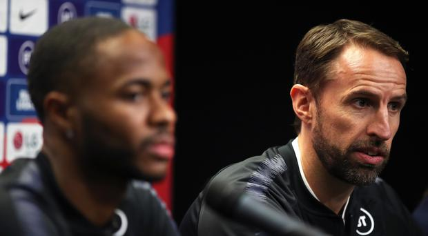England manager Gareth Southgate and Raheem Sterling spoke to the media ahead of Friday's match with the Czech Republic (Nick Potts/PA)