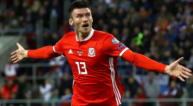 Kieffer Moore opened the scoring for Wales (Tim Goode/PA)