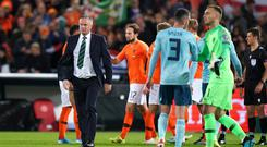 Michael O'Neill after Thursday night's game against Holland (John Walton/PA)