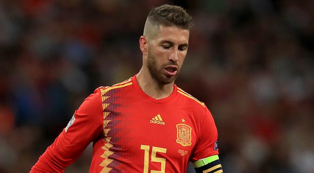 Sergio Ramos made a record 168th appearance for Spain (Mike Egerton/PA)
