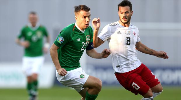 Republic of Ireland skipper Seamus Coleman (left) is hopeful there is another big result to come (Steven Paston/PA)