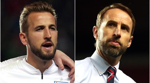 Harry Kane and Gareth Southgate want a positive response to Friday's defeat (Nick Potts/PA)