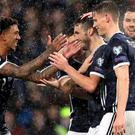 Smiles returned to the Scotland players at Hampden (Steve Welsh/PA)