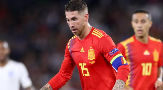 Sergio Ramos is suspended for Spain's match in Sweden (Nick Potts/PA)