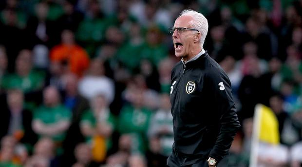 Republic of Ireland manager Mick McCarthy was in combative mood ahead of Tuesday night's Euro 2020 qualifier in Switzerland (Brian Lawless/PA)