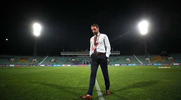 Gareth Southgate spoke to officials after racist chanting during the qualifier against Bulgaria (Nick Potts/PA)