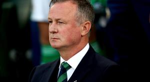 Michael O'Neill was proud of the way his players held on for a 3-2 win over the Czech Republic (Liam McBurney/PA)