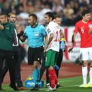 Match referee Ivan Bebek spoke to England boss Gareth Southgate about racist chanting in the first half in Sofia (Nick Potts/PA)
