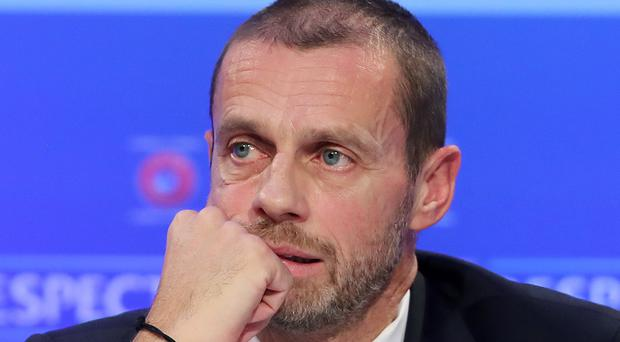 Aleksander Ceferin has stressed UEFA's commitment to eradicating racism (Niall Carson/PA)