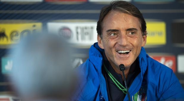 Roberto Mancini has equalled the record of nine straight wins as Italy boss (Gian Ehrenzeller/AP)