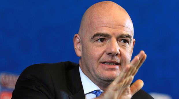 FIFA president Gianni Infantino has called for new ways of eradicating racism in football (Nick Potts/PA)