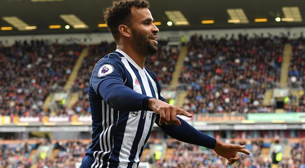 Hal Robson-Kanu grabbed a late winner for West Brom at Middlesbrough (Anthony Devlin/PA Images).