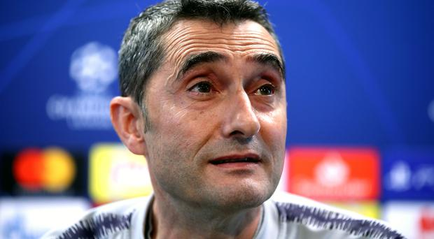 Barcelona boss Ernesto Valverde is excited to see the trio of Antoine Griezmann, Lionel Messi and Luis Suarez develop (Nick Potts/PA)